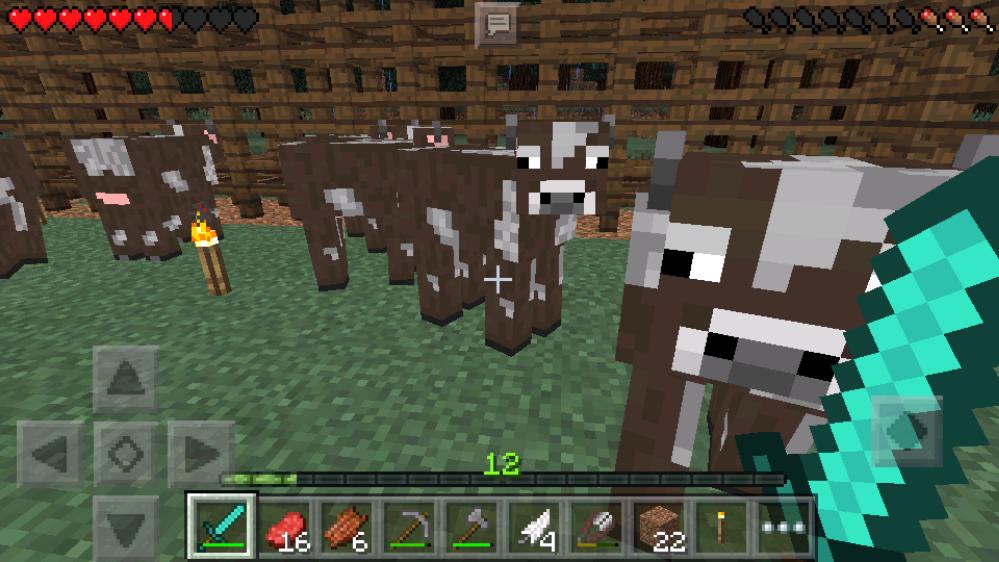 【マイクラpe日記】牛が消えない柵の作り方
